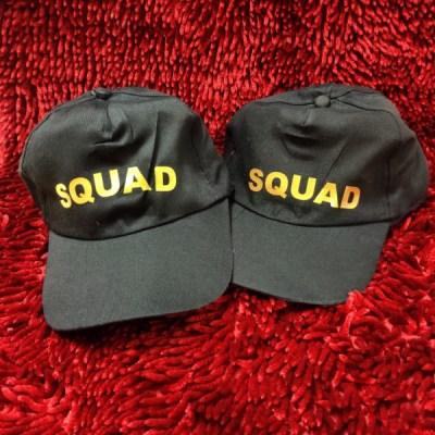 Personalized Black Printed Caps
