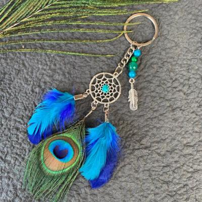 Peacock Feather Key Chain, Customized , Personalized gifts