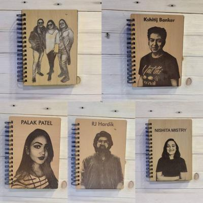 Personalized Wooden Diary with Your Photo and Text