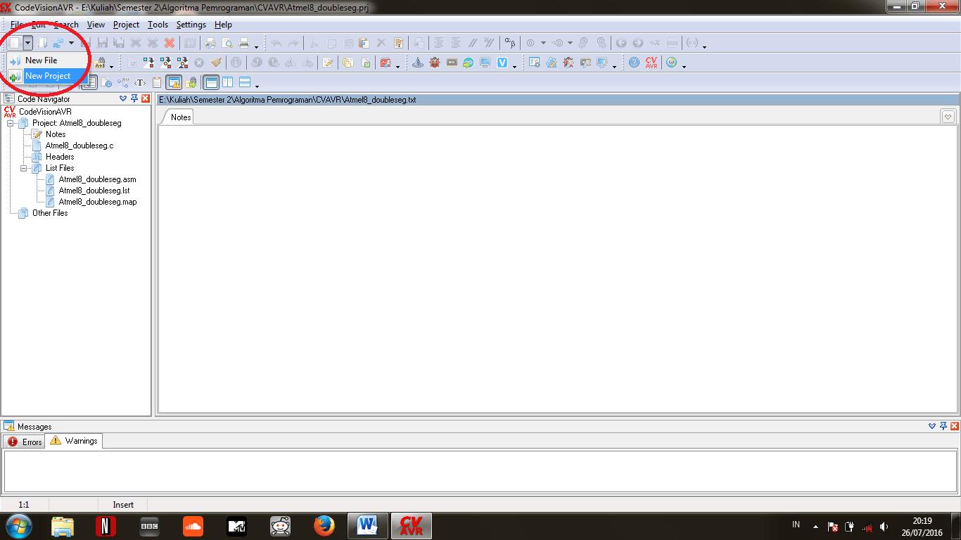 Tutorial Pemrograman Dan Simulasi Pada Cv Avr Dan Proteus