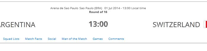 Prediksi Pertandingan Argentina vs Swiss