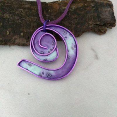 Magenta Swirl Pendant