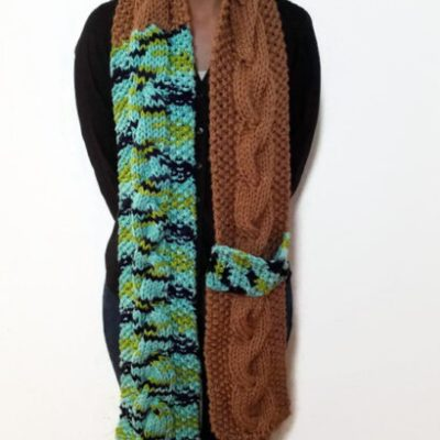 Earth Cable Scarf With Strap Vone Kevitz
