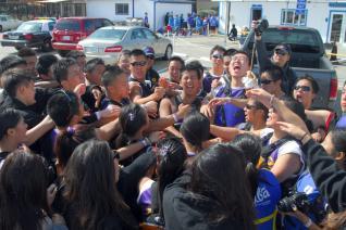 Team cheer at Treasure Island 2012