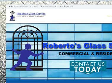 Roberto's Glass website example