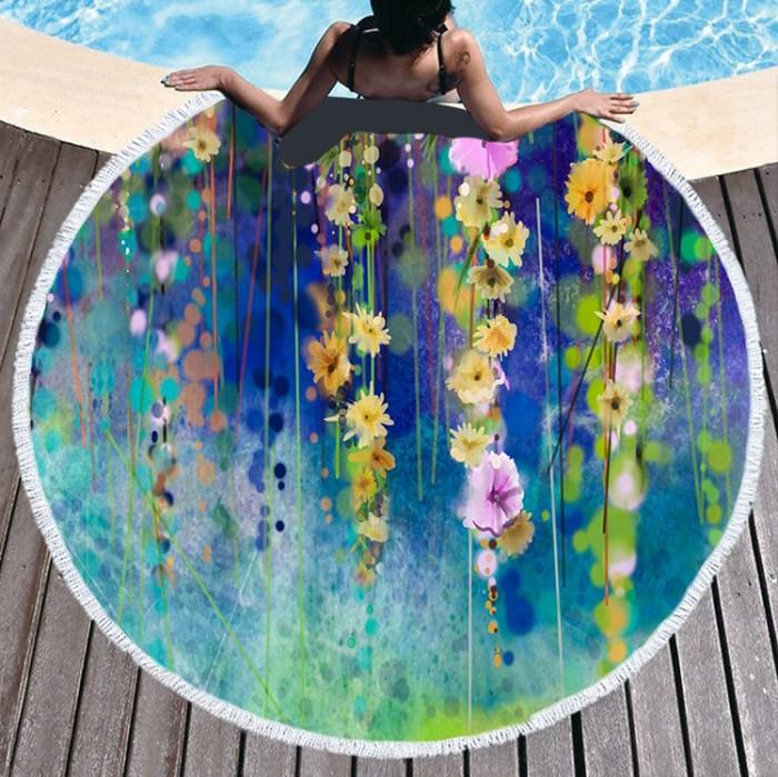 flower fair beach towel