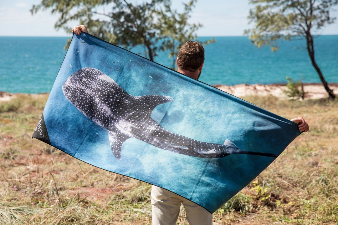 shark microfiber beach towel