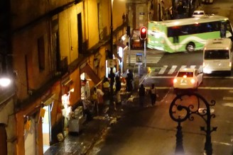on the street below our hostel room.