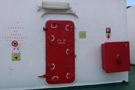 Emergency generator door