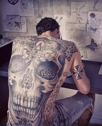 Cool Simple Back Tattoos For Men