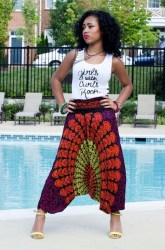 african clothes natural outfits hair pants shirts styles rock curls prints american kinky trousers wear ankara kente africanfashion ethnicprints africangirls