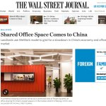 Shared Office Space Comes to China – for the Wall Street Journal