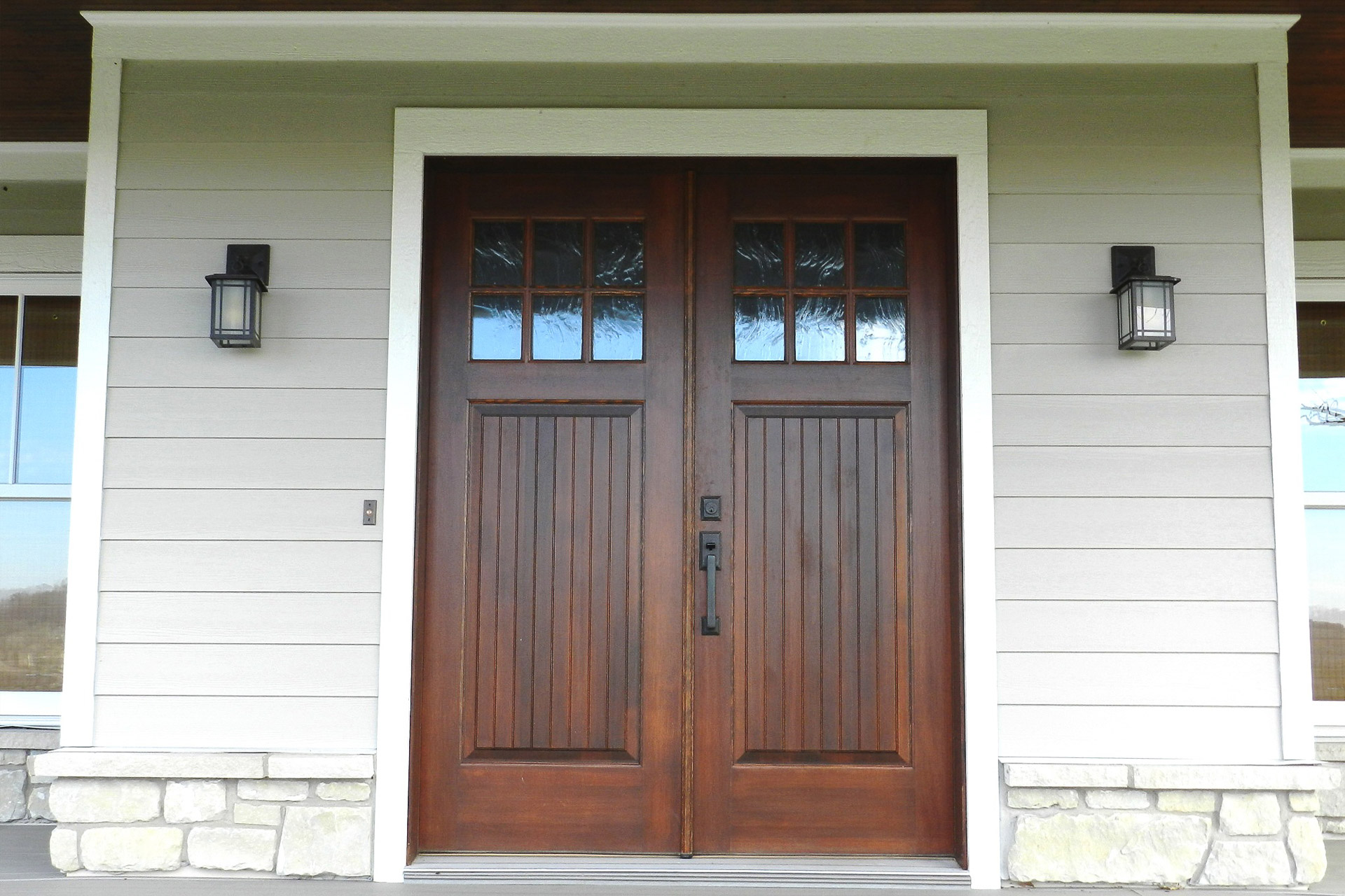Double Wooden Front Doors Gallagher Arch