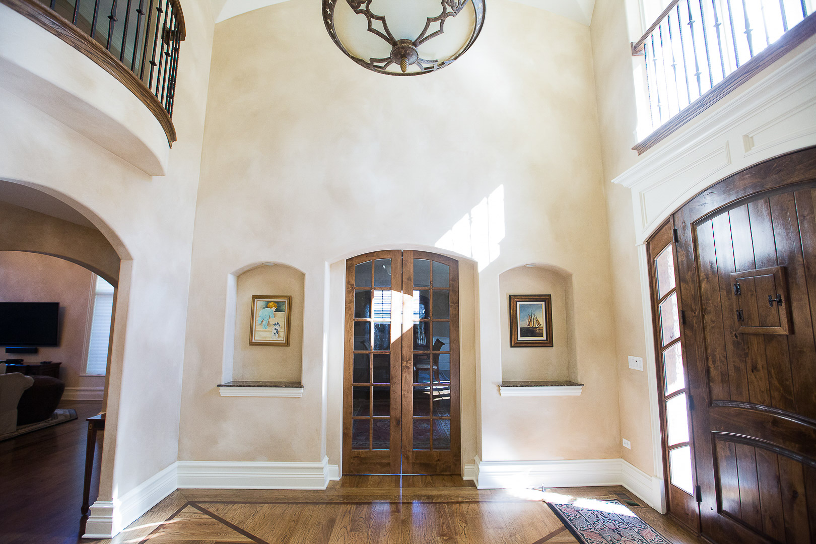 Foyer Office Entrance French Doors