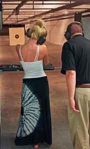 Gun range woman