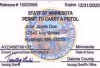 Minnesota Carry Permit Card