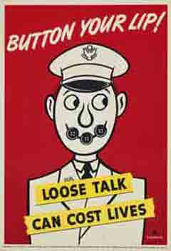 Button your lip: Remain silent