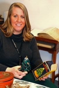 Amanda Keller is CW's assistant curator of historic interiors and household accessories.  Keller teamed up with Cynthya Nothstine, manager of  the Bassett Hall site, and other CW staff members and volunteers to decorate Bassett Hall in the style of the 1940's.