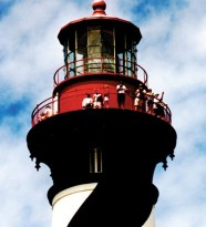 Lighthouse Tower of St. Augustine Lighthouse on Anastasia Island (photo courtesy of FloridasHistoricCoast.com)