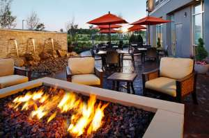 Springhill Suites patio.