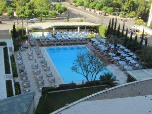 Pool at the Hilton.