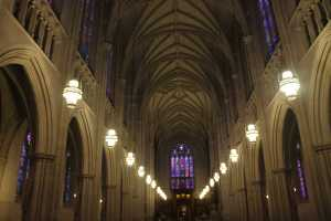 Interior at the Duke Chapel