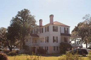 """James Robert  Verdier House""""Marshland"""" ca. 1814 (Clara Barton was a nurse here during CW-)  501 Pinckney st.  ( Dr. Verdier was a pioneer in the successsful treatment of yellow fever.)"""