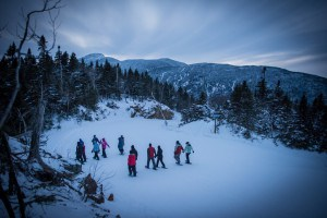 Treking down after the Snowshoe Dinner - photo courtesy of Smugglers' Notch Resort