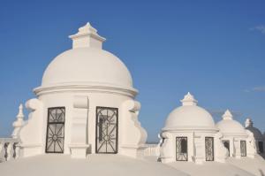 "UNESCO basilica"" La Asuncion"" roof."