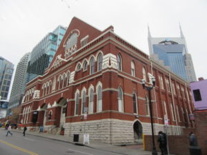 The Ryman auditorum is a Nashville historic landmark.