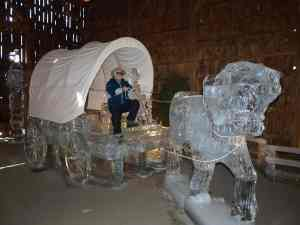 Conestoga Wagon and Horse from previous visit to Northeastern Pennsylvania's Crystal Cabin