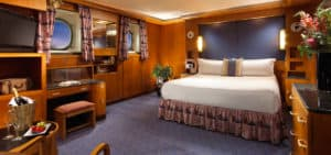 Spacious Guest Room on the Queen Mary.