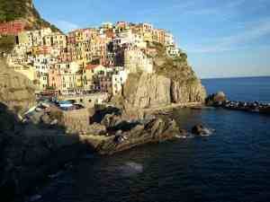 The village of Manarola in Cinque Terre, Italy