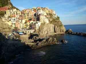 The village of Manarola in Cinque Terre, Italy