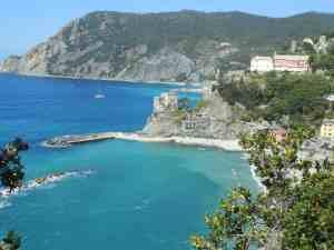The Cinque Terre coastline at Monterosso, Italy
