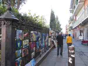 Buy Street art in New Orleans French Quarter.