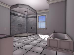Cloverleaf II Mesh Master Bathroom Shower