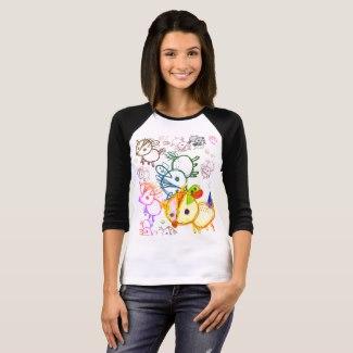 ラグラン7分袖 Tシャツ