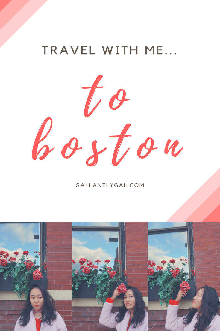 Travel with me... to Boston!