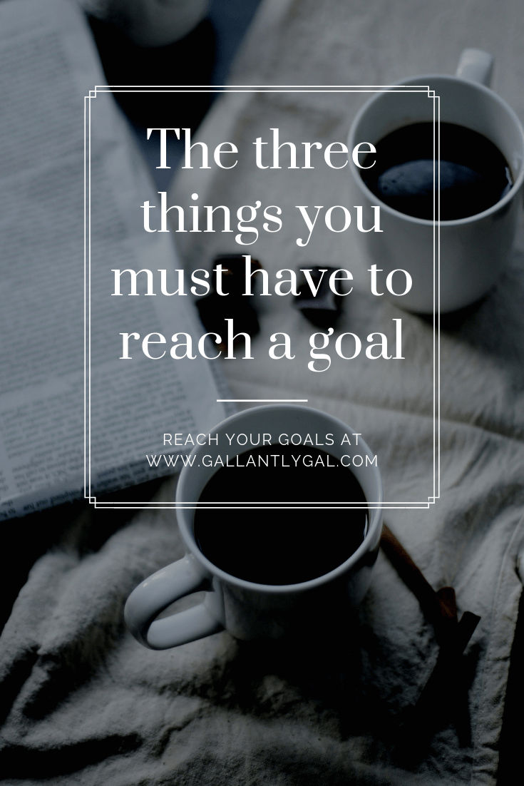 The three things you must have to reach a goal