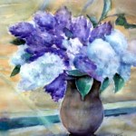syrener i brun vase