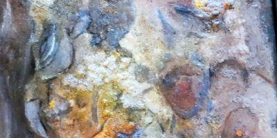 Abstrakt i blåt