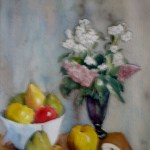 blomster og æbler