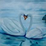 kærlige svaner