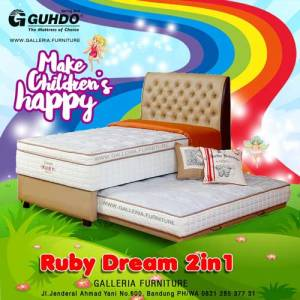 Spring Bed Anak Sorong Guhdo Ruby Dream 2in1