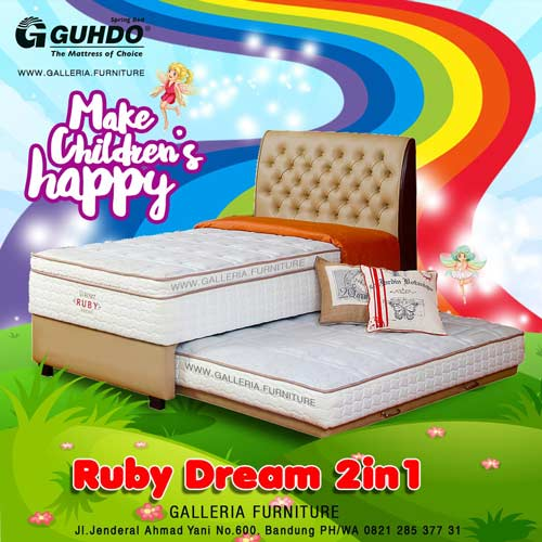 Spring Bed Anak Sorong Guhdo Ruby Dream 2in1