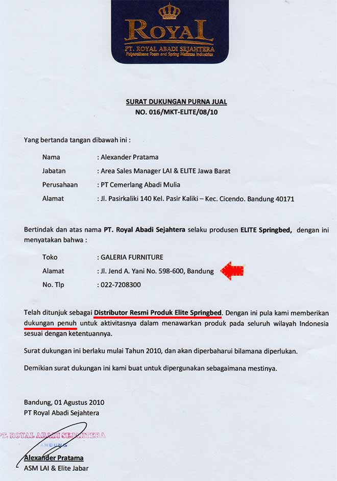 Distributor Elite Spring Bed Bandung