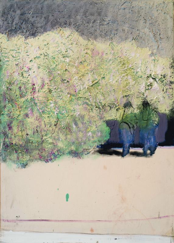 Passeggiata al crepuscolo, olio su tela, 70x50 cm