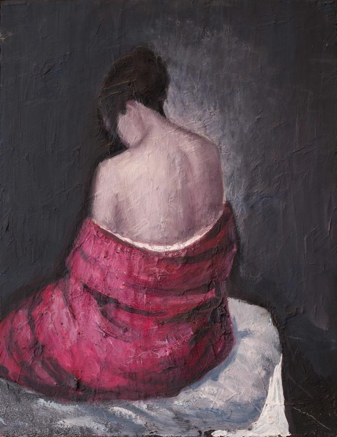 Assenza, olio su tela, 65x50 cm