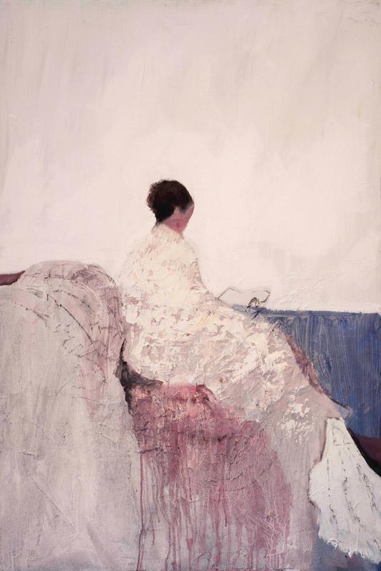 Angelo Bordiga, Evanescenza, oli su tela, 120x80 cm